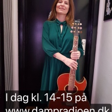 Mette Kirkegaard i Roskilde Dampradio